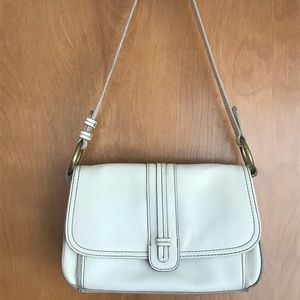 Villager a Liz Claiborne Co. White Shoulder Bag